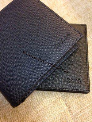 prada cheap online - 2014 New Prada Saffiano Men\u0026#39;s bi-folded wallet cornflower blue ...