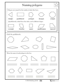 Worksheets Identifying Polygons Worksheet our 5 favorite prek math worksheets activities geometric shapes naming polygons greatschools