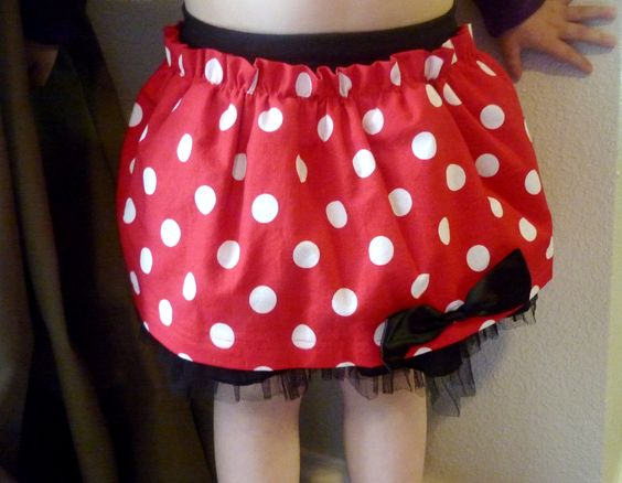 DIY Minnie Mouse skirt