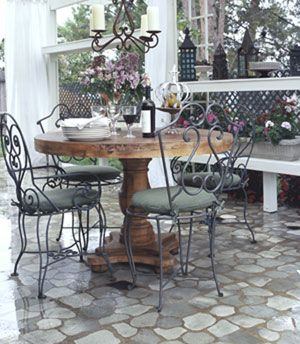 Paint Concrete To Look Like A Stone Patio Outdoors
