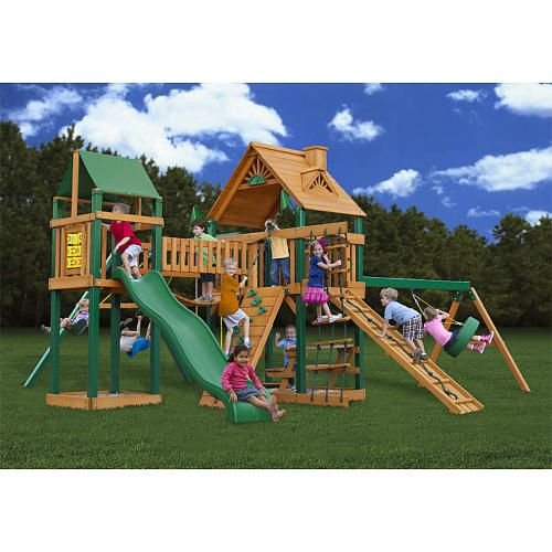 2162@ will goat.comPioneer Peak Wooden Gym Set