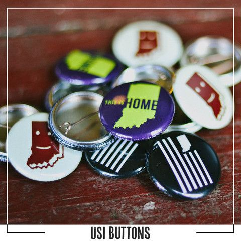 United State Of Indiana Buttons Indiana Buttons United States
