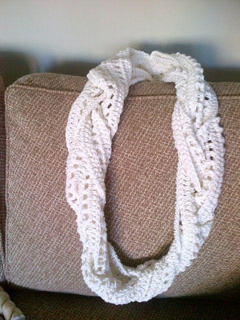 Braided Scarf I Crocheted for Edna
