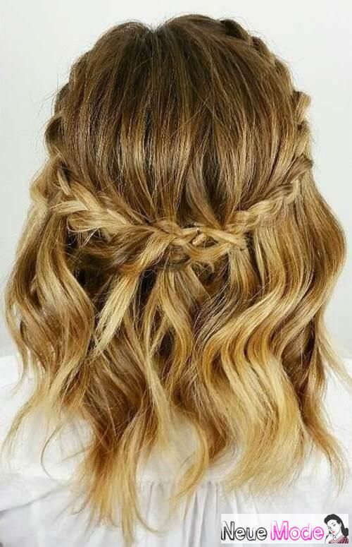 Halboffene Frisur Neue Halboffene Frisuren 2019 Abiball Frisuren Halboffen Braut Low Maintenance Hair Braids For Short Hair Prom Hairstyles For Short Hair