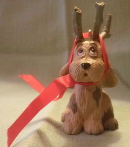 My favorite Christmas special!  Hallmark Christmas Ornament Max the Grinch's dog 1987