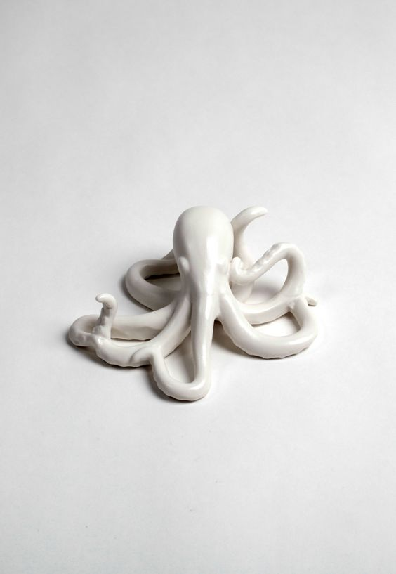 White Faux Taxidermy - The Ursula | Small Faux Octopus | White Poly-Stone, $24.99 (http://www.whitefauxtaxidermy.com/the-ursula-small-faux-octopus-white-poly-stone/)