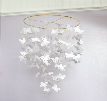 12 Beautiful DIY Baby Mobiles - best butterfly mobile