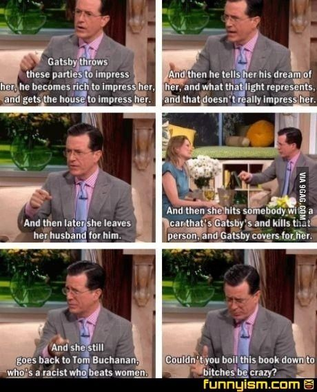 "Stephen Colbert on ""The Great Gatsby""."