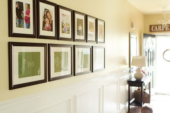 nice wall gallery layout