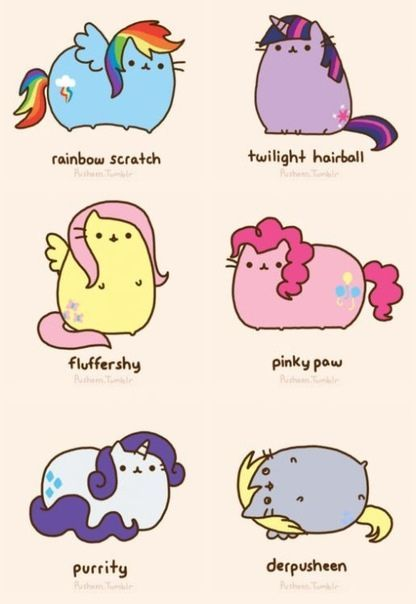 cat versions of the Mane 6 from My Little Pony: Friendship is Magic.