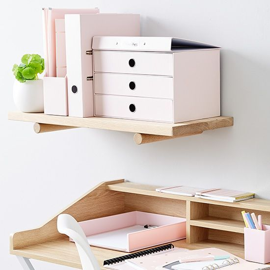 How To Organise Your Desk With Colour Kmart Australia Pretty Pink Scandi Stationary Kmart Decor Home Office Organization Kmart Home