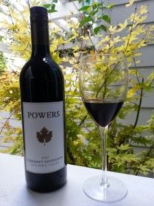 For Wine Wednesday, Powers Cabernet Sauvignon 2010