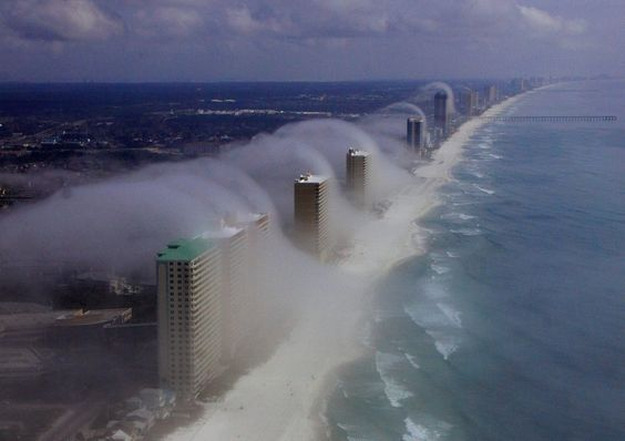Fog rolling in - Panama City Beach: Beach Florida, Favorite Place, Cloud Tsunami, Mother Nature, Panama City