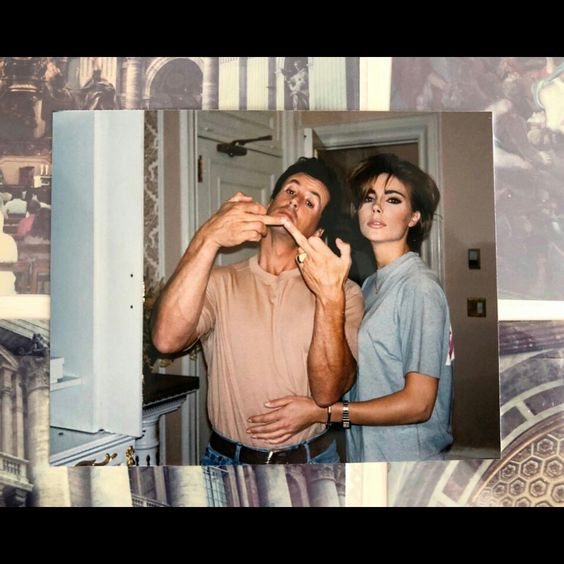 Jennifer Flavin & Sylvester Stallone being silly #Stallone