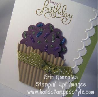 cupcake card by Inky_cheeks - Cards and Paper Crafts at Splitcoaststampers