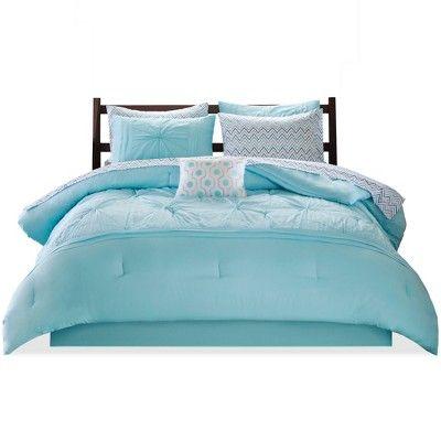 4 Piece Bed Bag Turquoise Blue Aqua Girls Full Queen Comforter Set