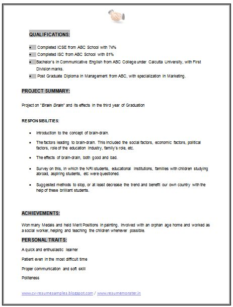 MBA Best Resume (Page 1) Career Pinterest Marketing resume - mba resume