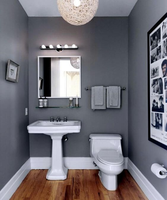 30 Wonderful Bathroom Color Ideas 2020 You Need To Try Dovenda Bathroom Paint Design Small Grey Bathrooms Small Bathroom Paint