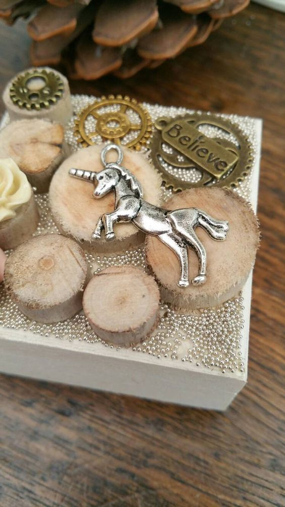 Wooden Unicorn box, unicorn keepsake, jewellery box, jewelry box, steampunk unicorn box, unicorn stocking filler, driftwood box, gift box