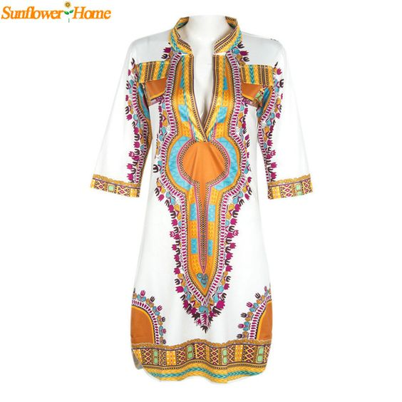 Now available on our store;  Traditional Afric...    http://www.shapedboutique.com/products/newly-design-women-summer-casual-deep-v-neck-traditional-african-dashiki-print-knee-dress-160504?utm_campaign=social_autopilot&utm_source=pin&utm_medium=pin  #ShapedDressBoutique  www.shapeddreddboutique.com