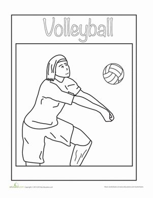 volleyball coloring sheet kindergarten volleyball and sports. Black Bedroom Furniture Sets. Home Design Ideas