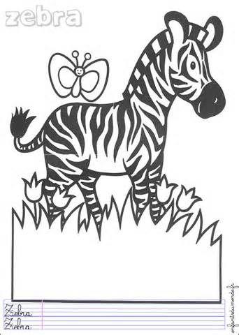 Coloriage zebre coloriages animaux jungle anglais picture - Coloriage zebre ...