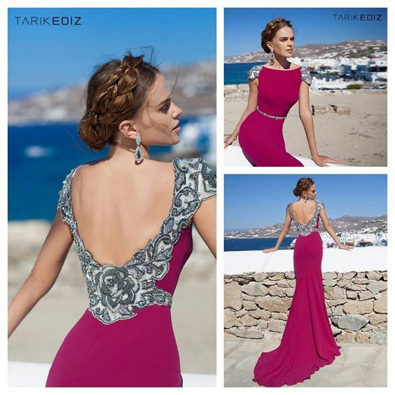 """""""#92642 #Newcollection #cherry #hautecouture #gown #evening  #handmade #madeineurope #quality #Tarikediz #couture  #couturedetails #wedding"""""""