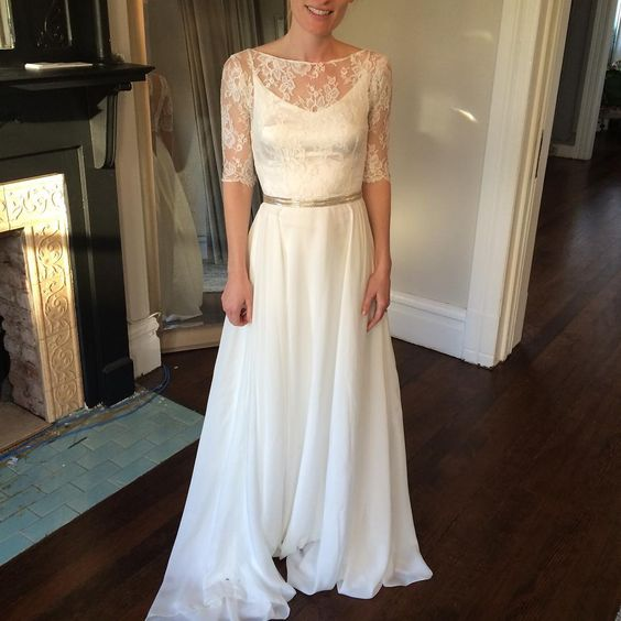 We ❤️ you San Francisco and our stellar alterations team for getting our brides aisle ready. This Bleecker gown is perfect and ready to take home