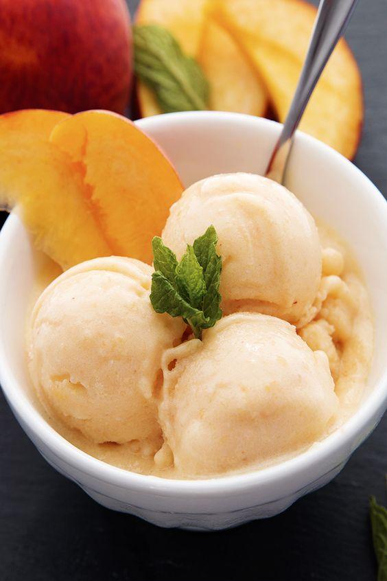 Healthy Peach Frozen Yogurt   #healthysnacks #healthyfood http://www.genetichealthplan.com/: