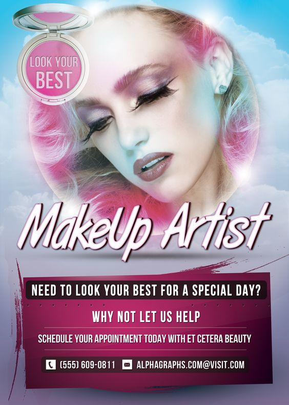 Makeup Artist Flyer Template Available to download at http://www ...