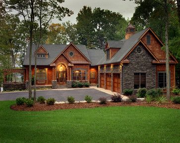 Cottage At The Lake Traditional Exterior Charlotte
