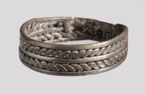 Silver ring found in Dziekanowice, Poland.Culture: Slavic [West Slavs]Timeline: c. 10th-11th century[source]