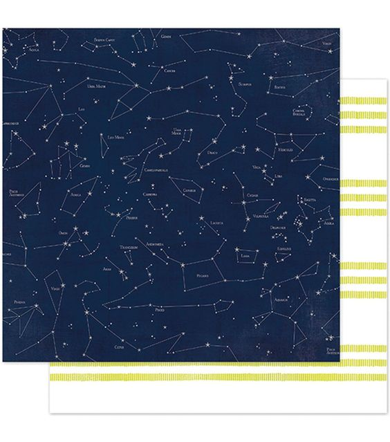 """September Skies Double-Sided Cardstock 12""""X12""""-Star Gazing"""