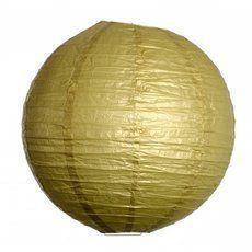 lampion boule chinoise dorée