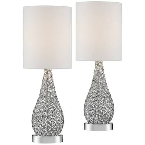 Leola Crystal Bead Gourd Accent Table Lamp Set Of 2 7j570 7j570