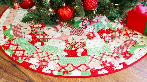 June Tailor S Quilt As You Go Tree Skirt Christmas Tree Skirts Patterns Swell Christmas Tree Skirt Pattern