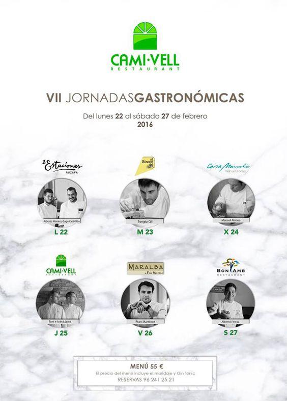 La familia López vuelve a reunir en las jornadas gastronómicas de su Camí Vell, en Alzira, a lo mejor de la gastronomía mediterránea durante 6 días en las que comparten sus fogones con otros grandes chefs.