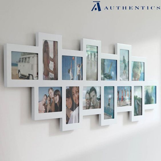 Studio 14 multi frame white wall framing ideas for Cadre multi photos mural