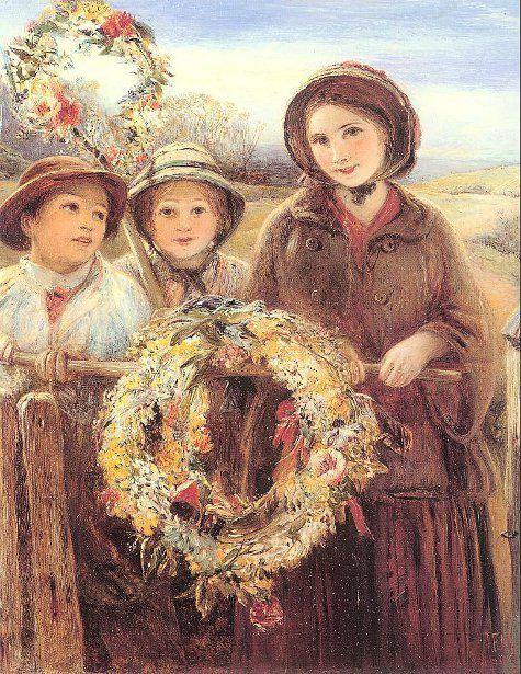 May Day Garlands-Thomas Falcon Marshall (1818 – 1878, English)