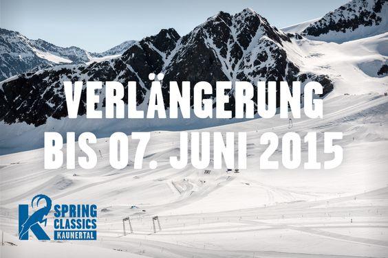Snowpark Kaunertal - Spring Classics gehen in die Verlängerung und enden erst im Juni !! Mehr Infos gibt´s hier: http://www.snowlab.de/news.php?news_id=1676