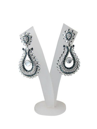 "Bollywood Designer Black American Diamond Earrings with Polki Beads ""Tarini Jewels"" Mogul Interior,http://www.amazon.com/dp/B00FOHD18C/ref=cm_sw_r_pi_dp_hGTusb01DJ2P560X"