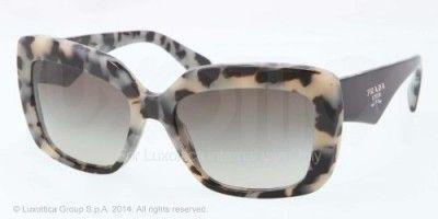 Óculos Prada PR03QS Sunglasses-KAD/4M1 White Havana (Green Gradient Lens)-55mm #Óculos #Prada