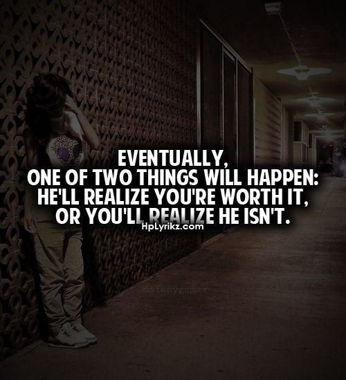 Hope I realize before you