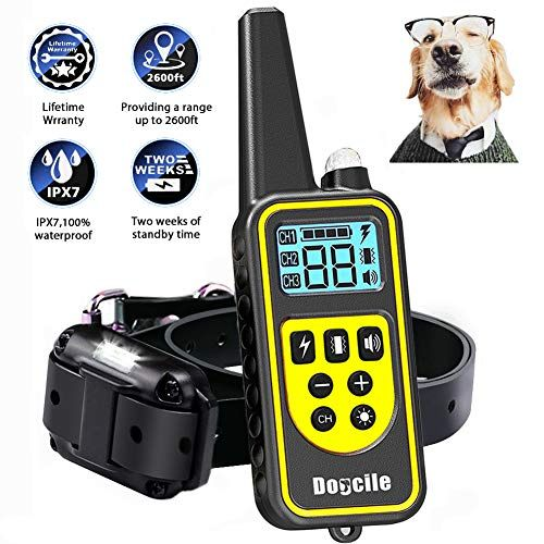Linnse Shock Collar For Dogs Dog Shock Collar With Remote Control