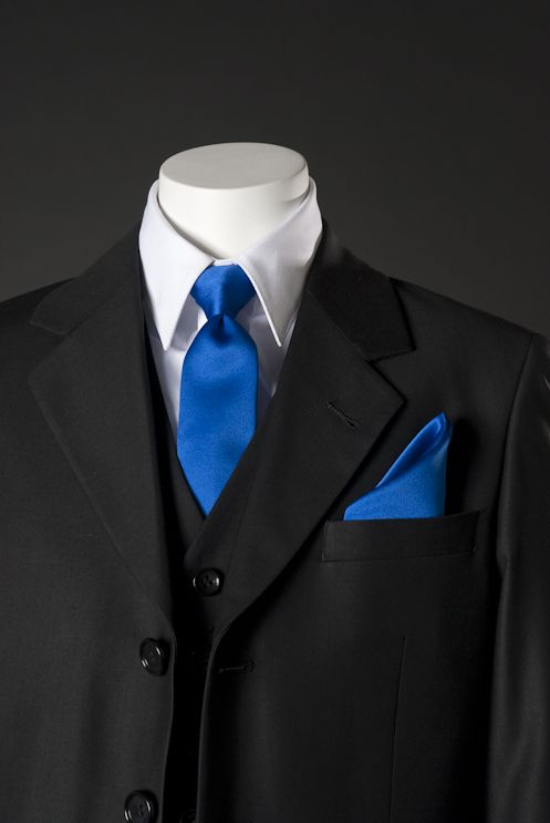 black suit with royal blue vest - Google Search | Wedding