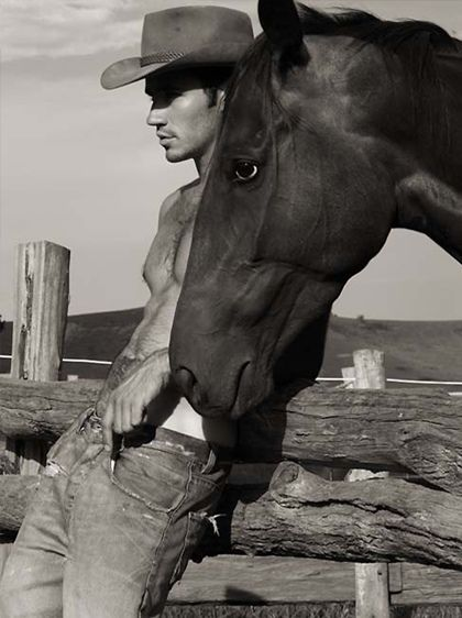 Mmm fantasy come true, beautiful man and beautiful horse.