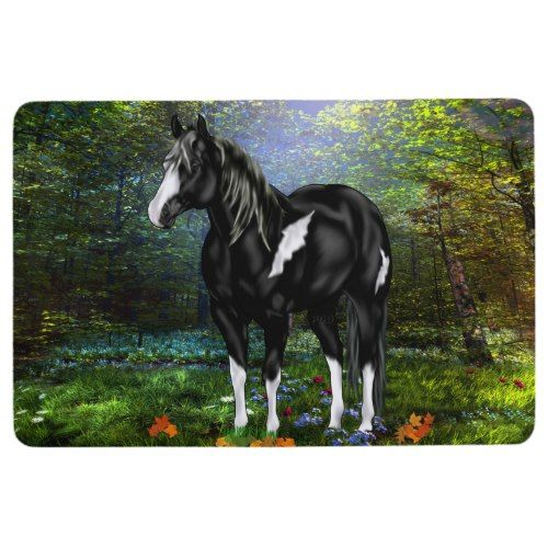 Black And White Overo Paint Horse Floor Mat Zazzle Com Horse Painting Horse Artwork Horse Posters