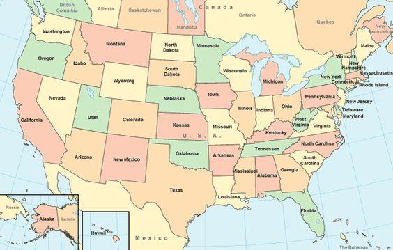 Washington Oregon Idaho Montana South Dakota Wyoming - Political map of south dakota