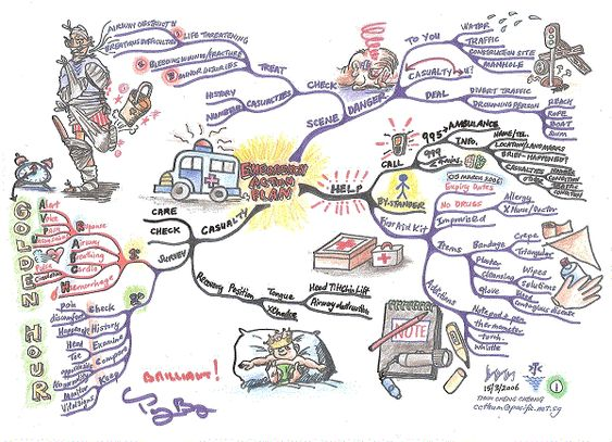 Emergency Action Plan Mind Map Created By Thum Cheng Cheong The