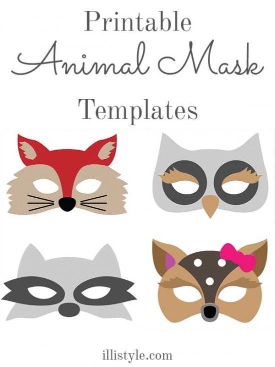 Felt animal mask printable templates costumes mask for Woodland animal masks template
